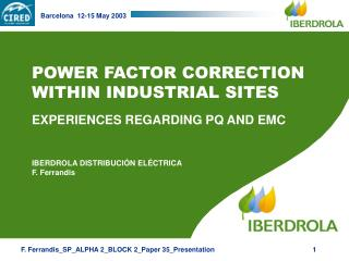POWER FACTOR CORRECTION WITHIN INDUSTRIAL SITES