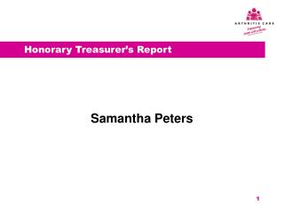 Honorary Treasurer's Report