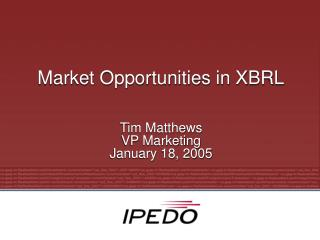 Market Opportunities in XBRL