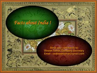 Facts about India !