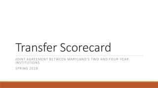 Transfer Scorecard