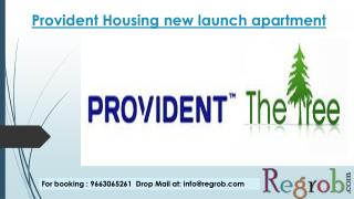 1/2/3 bhk apartments in provident the tree