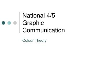 National 4/5 Graphic Communication