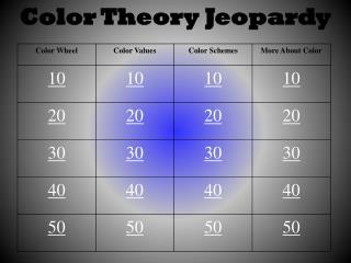 Color Theory Jeopardy