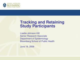 Tracking and Retaining Study Participants