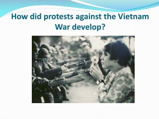 How did protests against the Vietnam War develop?