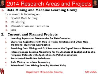 2014 Research Areas and Projects