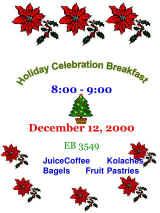 Holiday Celebration Breakfast