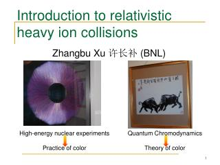 Introduction to relativistic heavy ion collisions