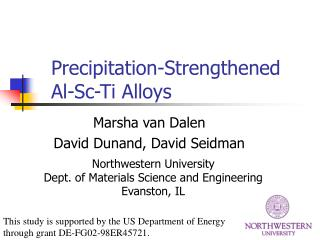 Precipitation-Strengthened  Al-Sc-Ti Alloys
