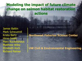 Modeling the impact of future climate change on salmon habitat restoration actions
