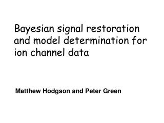Bayesian signal restoration and model determination for ion channel data