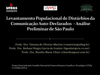 Profa . Dra. Vanessa de Oliveira Martins (vomartins@ufmg.br)