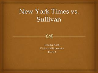 New York Times  vs.  Sullivan