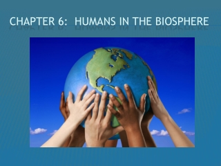 Chapter 6 Humans In The Biosphere
