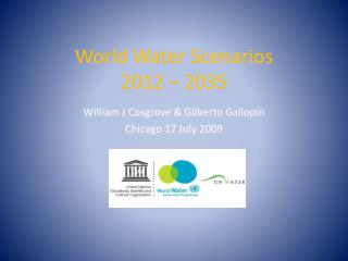World Water Scenarios  2012 – 2035