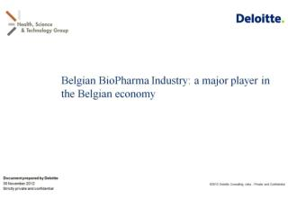 Belgian BioPharma Industry: a major player in the Belgian economy