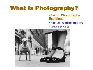 What is Photography?