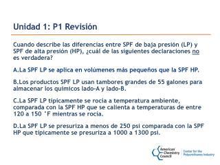 Unidad 1: P1 Revisión
