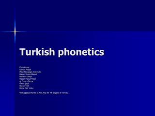 Turkish phonetics