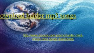 haider songs online