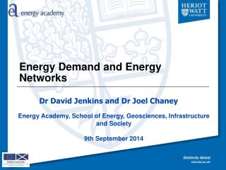 Energy Demand and Energy Networks