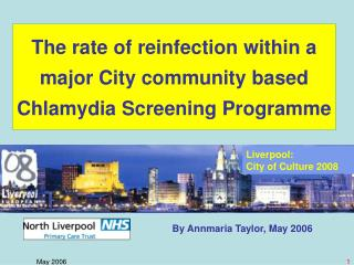The rate of reinfection within a major City community based Chlamydia Screening Programme