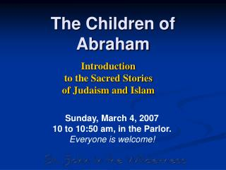The Children of Abraham