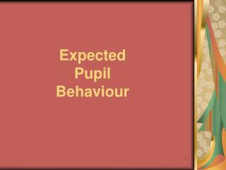 Expected  Pupil  Behaviour
