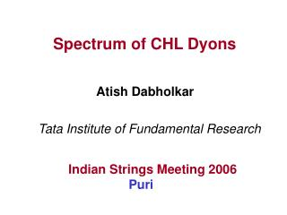 Spectrum of CHL Dyons