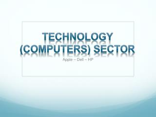 Technology (Computers) Sector