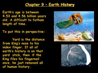 Chapter 9 – Earth History