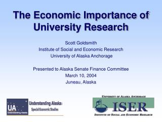 The Economic Importance of University Research