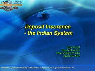 Deposit Insurance   - the Indian System