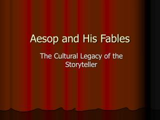 Aesop and His Fables