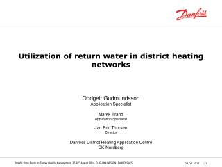Utilization of return water in district heating networks