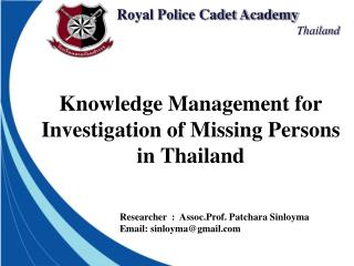 Knowledge Management for Investigation of Missing Persons in Thailand