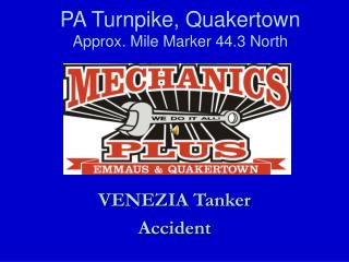 PA Turnpike, Quakertown Approx. Mile Marker 44.3 North