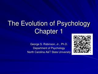 The Evolution of Psychology Chapter 1