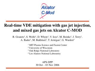 Real-time VDE mitigation with gas jet injection, and mixed gas jets on Alcator C-MOD