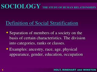 Definition of Social Stratification