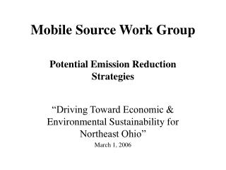 Mobile Source Work Group
