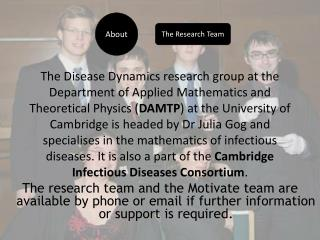 The Disease Dynamics research group at the Department of Applied Mathematics and