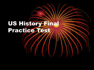 US History Final Practice Test