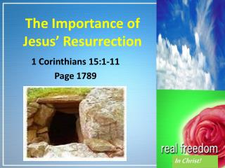 The Importance of Jesus' Resurrection