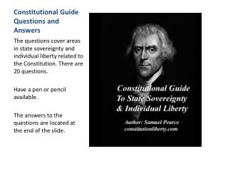 Constitutional Guide Questions and Answers