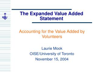 The Expanded Value Added Statement