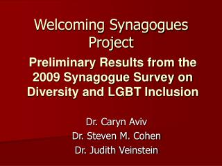 Welcoming Synagogues Project