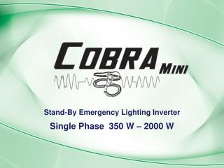 Stand-By Emergency Lighting Inverter