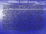 Stranded Island Activity